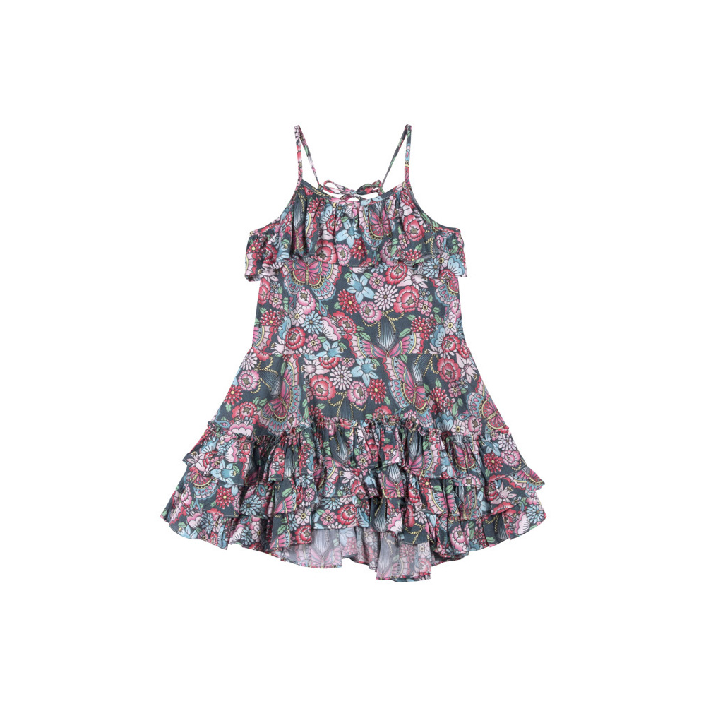 Paper Wings Frilled Dress with Ties