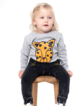 Band of Boys Organic Cat Faces Bodysuit