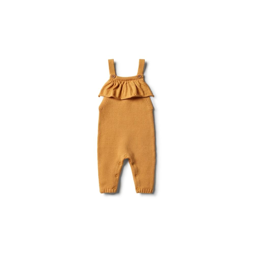 Wilson + Frenchy Knitted Ruffle Overall