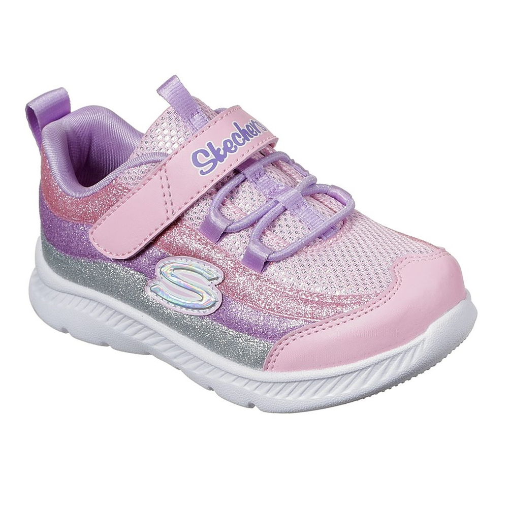 Skechers Comfy Flex Glitter Trails Shoe - Toddler